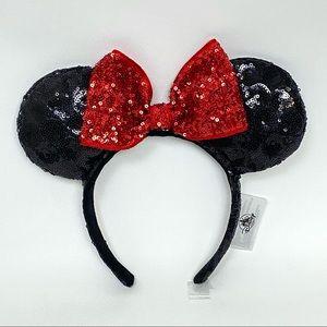 Disney Parks Sequin Minnie Mouse Bow Ears